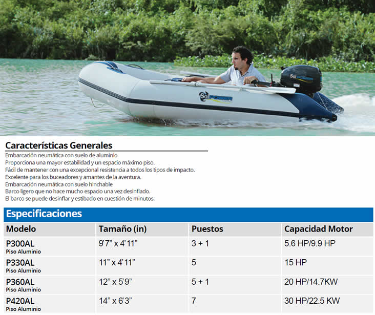 Botes Inflable Solpower